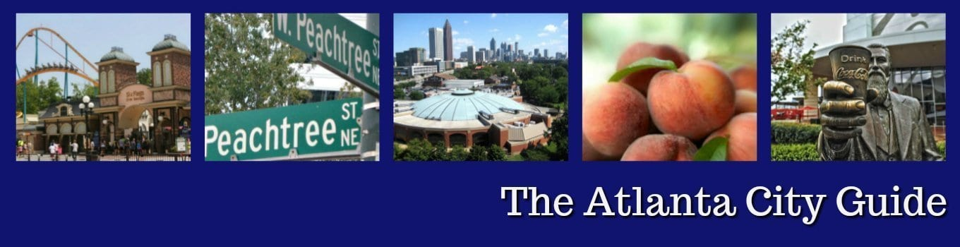 Atlanta guide featuring events, activities, sports calendars, discounts, dining, and things to do