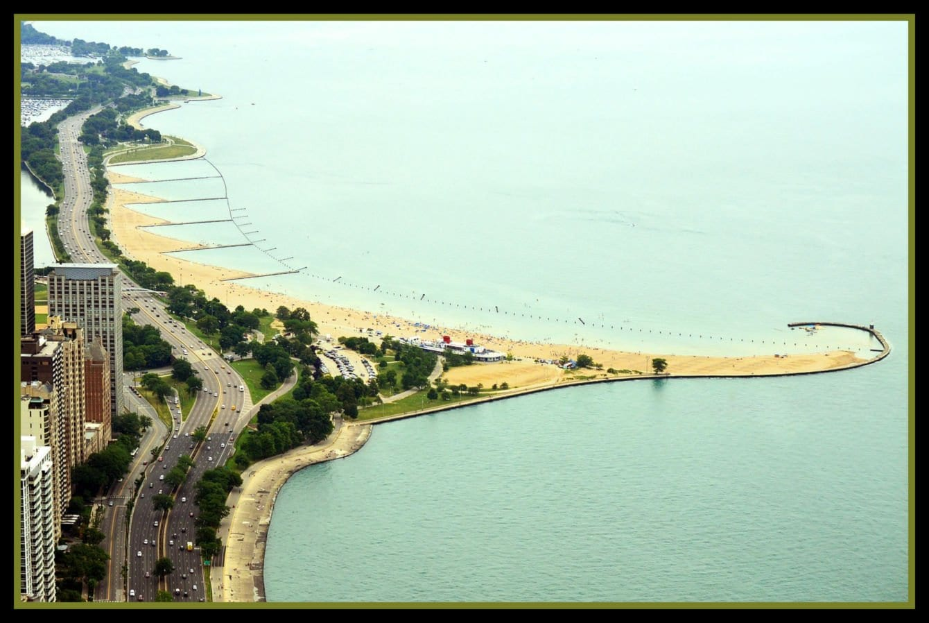 one of the beaches at Lincoln Park in Chicago