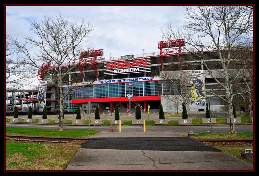 Nissan Stadium home of Tennessee Titans