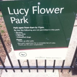 lucy flower park, chicago parks