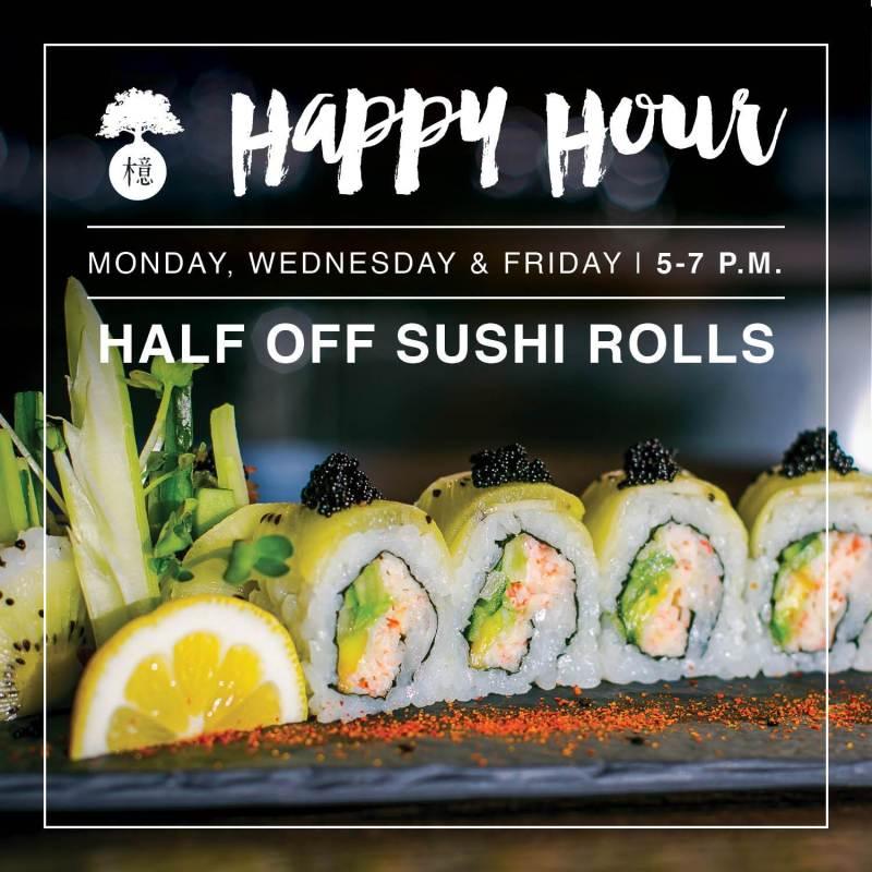 O-Ku Sushi downtown Raleigh, best sushi Raleigh, Sushi downtown Raleigh, Happy hour sushi specials