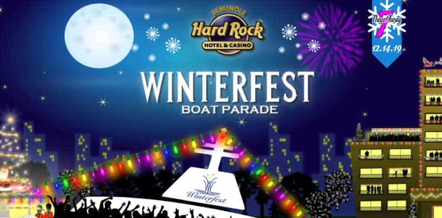 Winterfest Boat Parade Fort Lauderdale, Christmas event South Florida, Seminole Hard Rock Winterfest