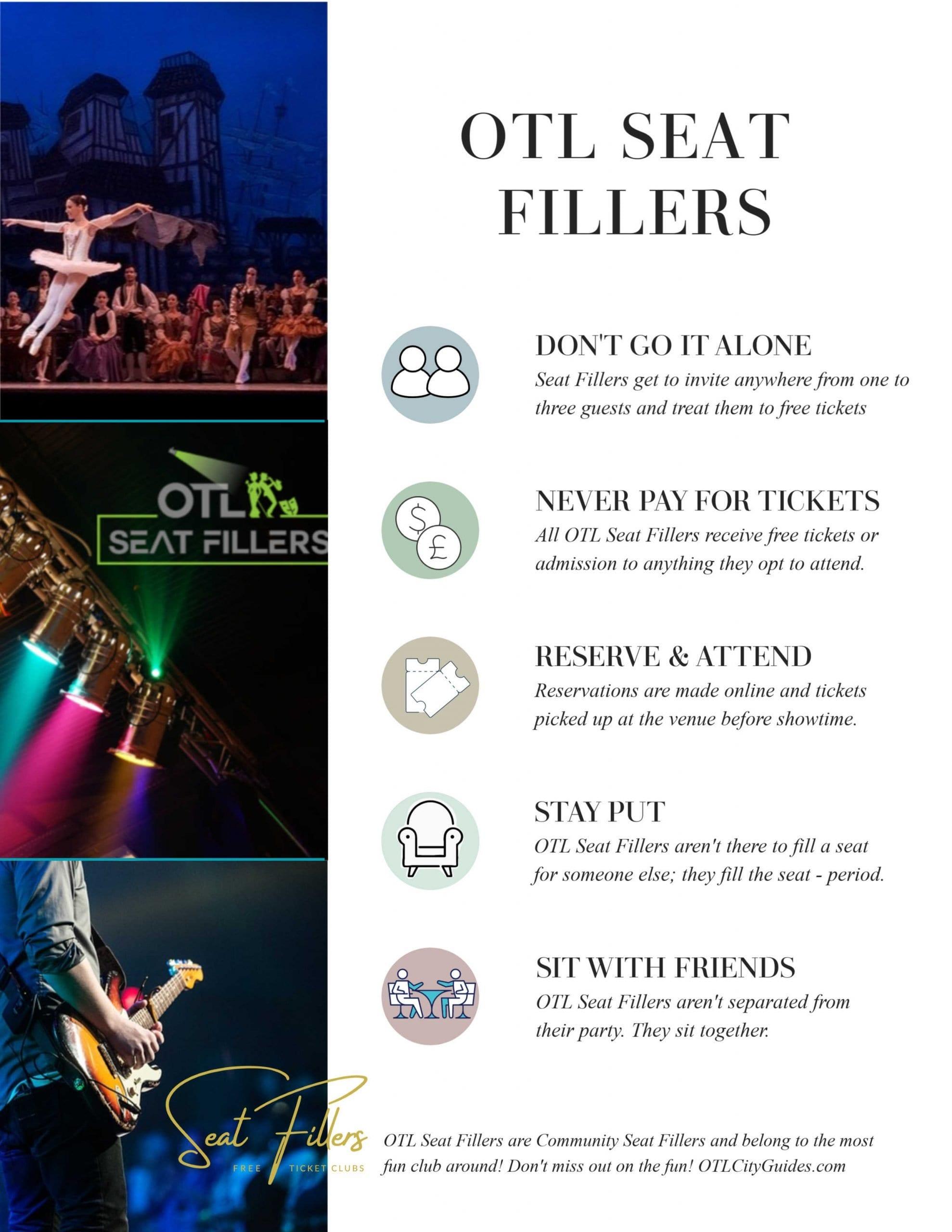 otl seat fillers, seat filling, free ticket club, free tickets club, seat fillers