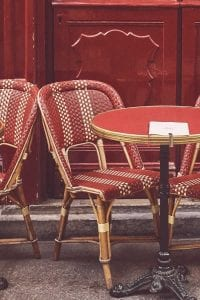 empty cafes during coronavirus in france