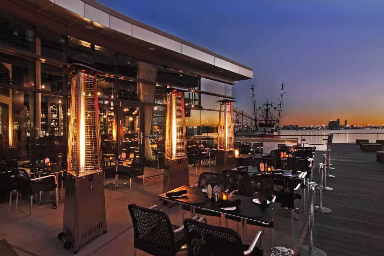 best outdoor restaurants boston, 75 on Liberty Wharf Boston, Boston outdoor dining