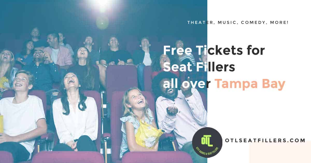 free tickets tampa, free tix for seat fillers in tampa, tampa seat fillers, seat fillers in tampa