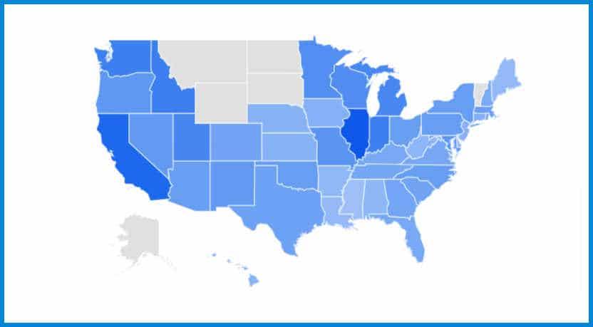 Google Trends, theaters open near me